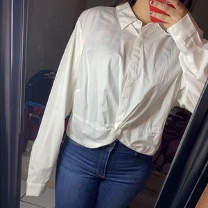 Cropped formal blouse